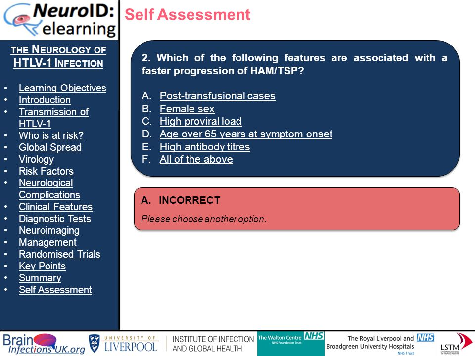 THE N EUROLOGY OF HTLV-1 I NFECTION Learning Objectives Introduction Transmission of HTLV-1Transmission of HTLV-1 Who is at risk? Global Spread Virolo