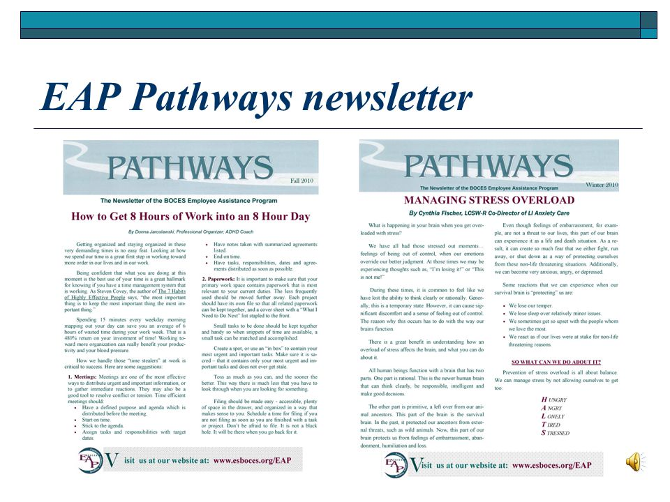 EAP Pathways newsletter