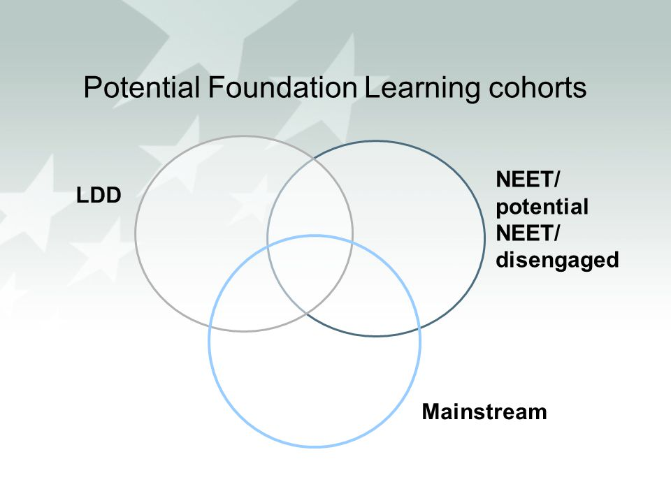 LDD NEET/ potential NEET/ disengaged Potential Foundation Learning cohorts Mainstream