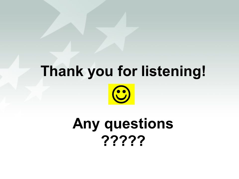 Thank you for listening! Any questions ?????