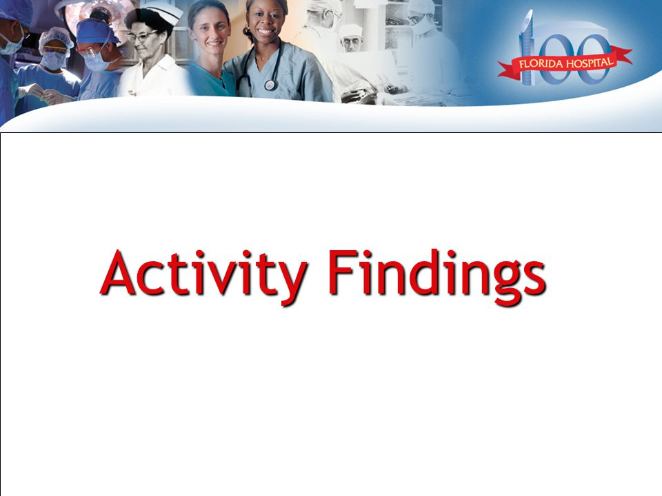 Activity Findings