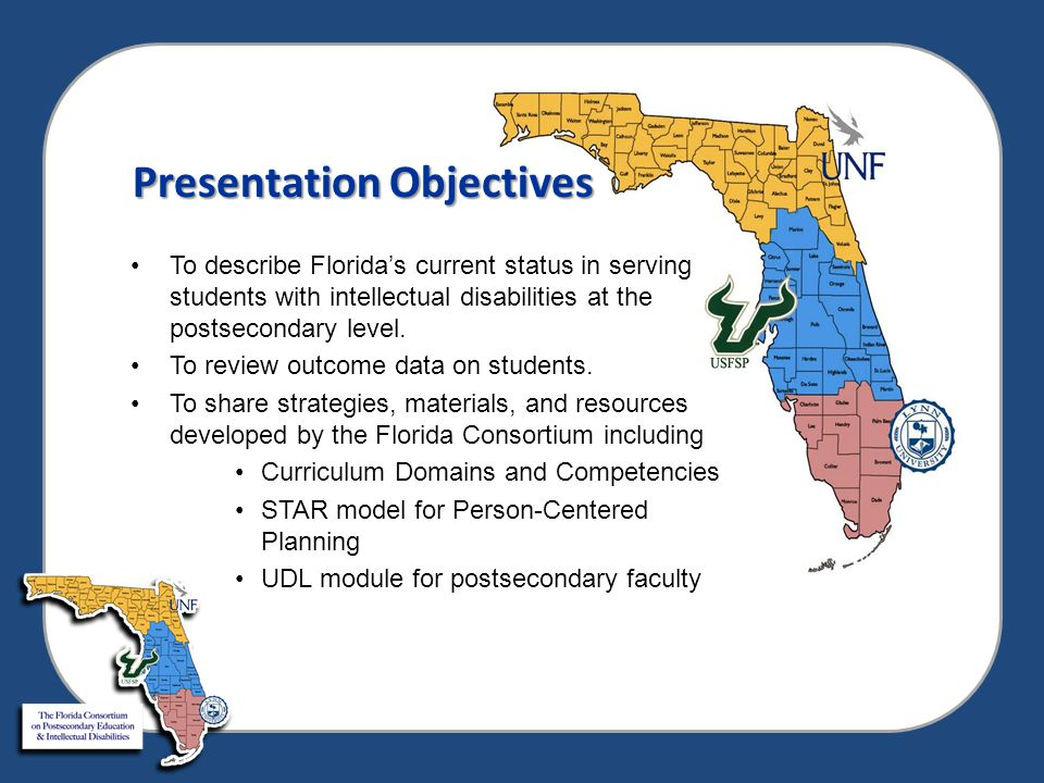Existing Florida Postsecondary Programs for Students with Intellectual Disabilities