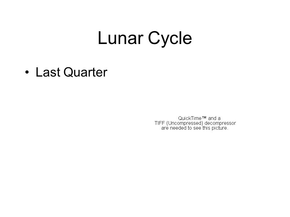 Lunar Cycle Last Quarter