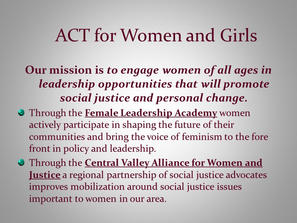 History ACT began from a Listening Circle in Visalia hosted by The Women's Foundation of California in February 2003.
