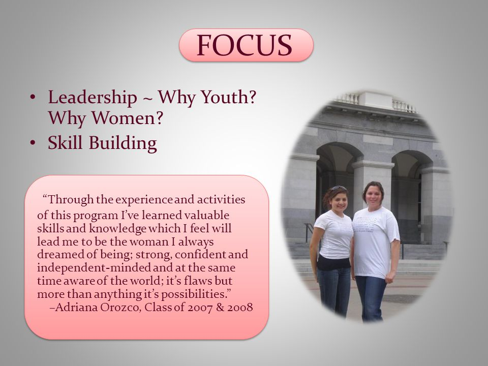FOCUS Leadership ~ Why Youth. Why Women.