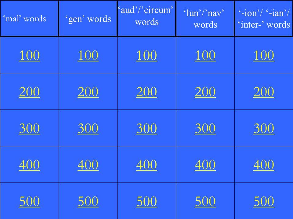 200 300 400 500 100 200 300 400 500 100 200 300 400 500 100 200 300 400 500 100 200 300 400 500 100 'mal' words 'gen' words 'aud'/'circum' words 'lun'