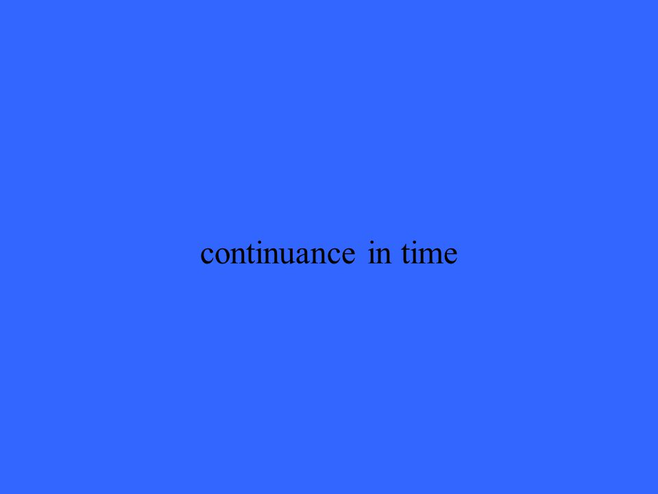 continuance in time