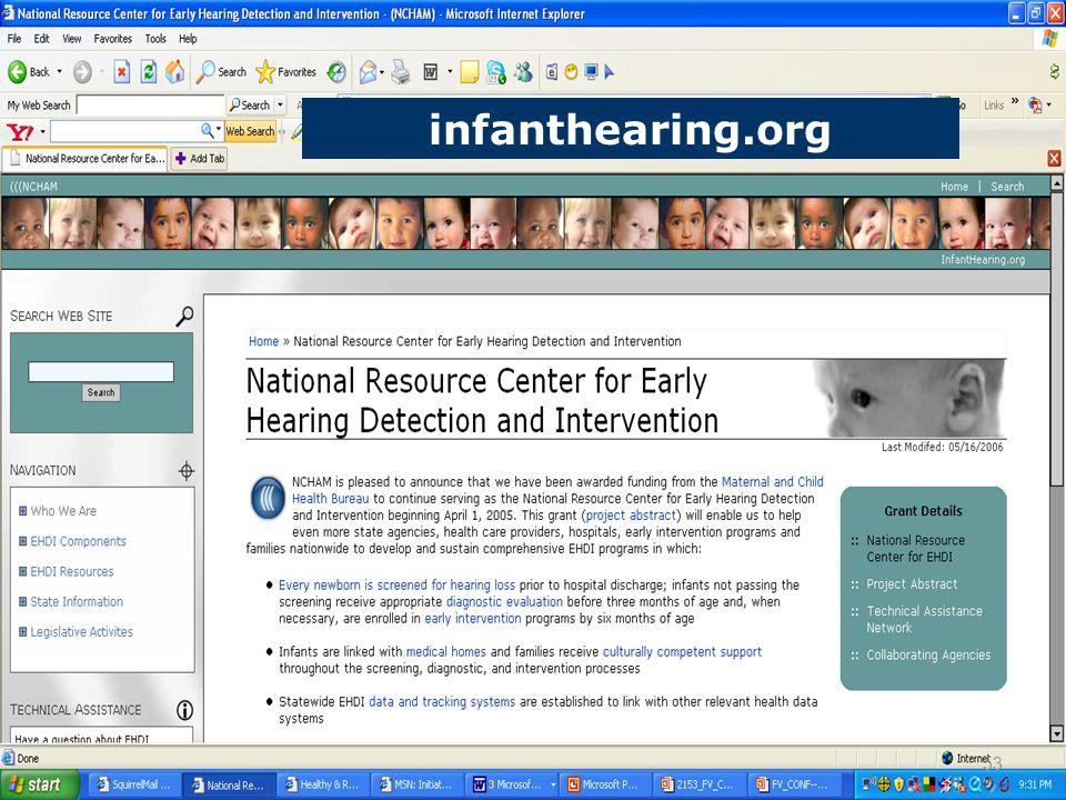 infanthearing.org 53
