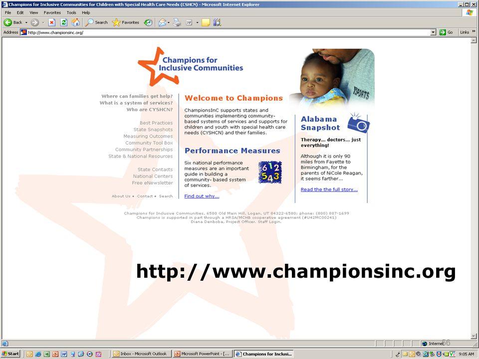http://www.championsinc.org 56