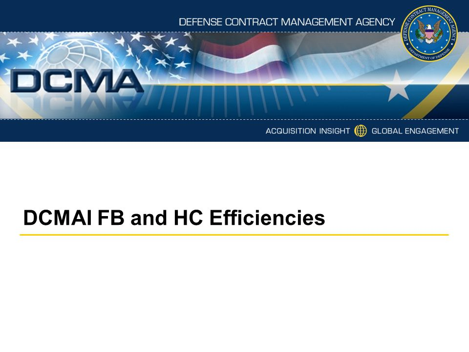 DCMAI FB and HC Efficiencies