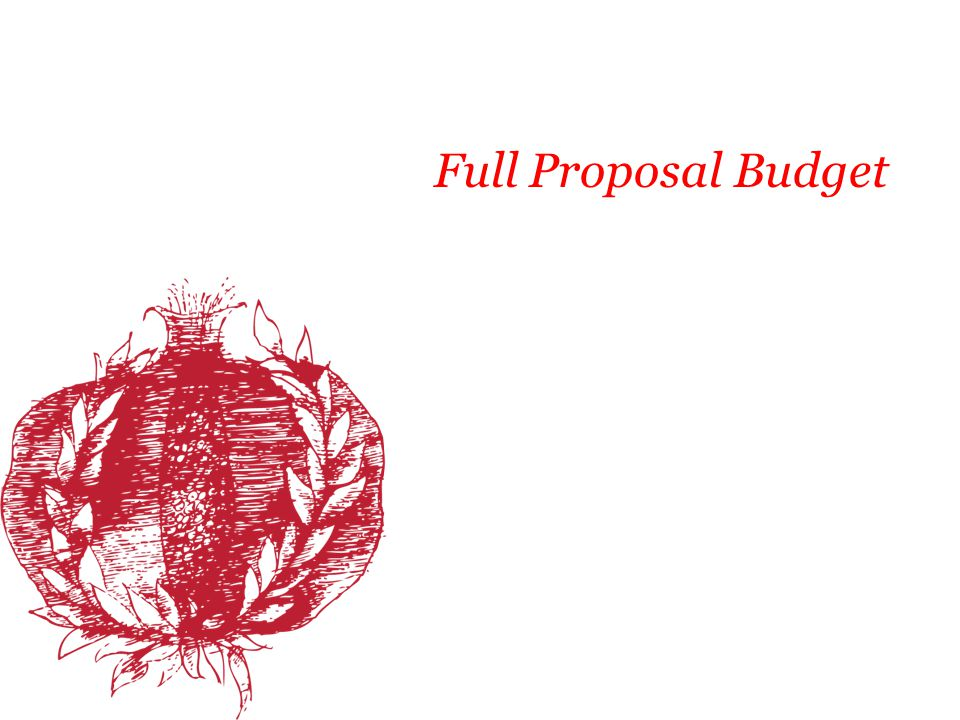 Full Proposal Budget