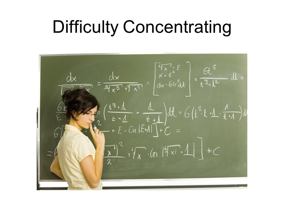Difficulty Concentrating