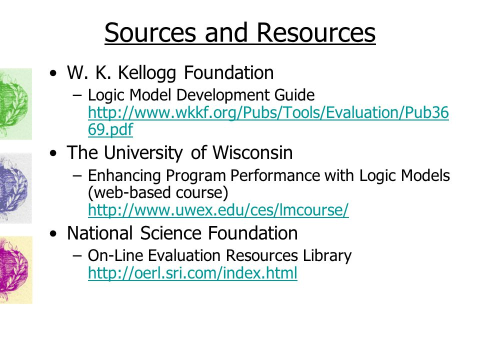 Sources and Resources W. K.