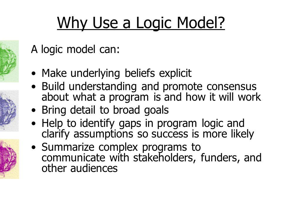 Why Use a Logic Model.
