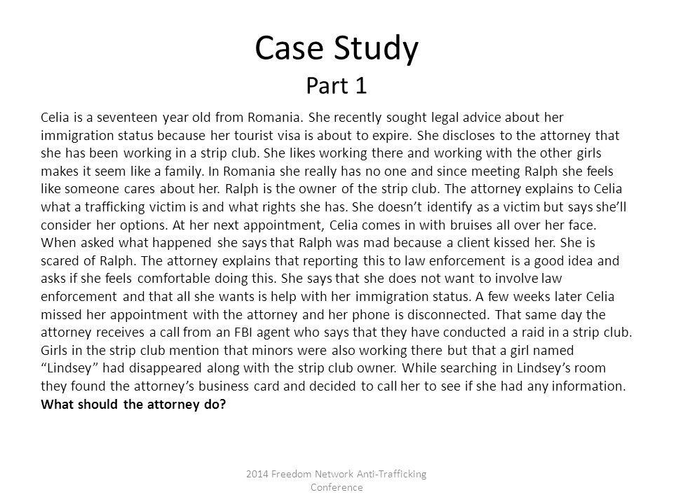 Case Study Part 1 Celia is a seventeen year old from Romania.