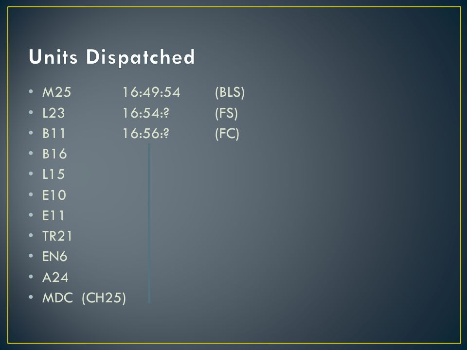 M2516:49:54(BLS) L2316:54:?(FS) B1116:56:?(FC) B16 L15 E10 E11 TR21 EN6 A24 MDC (CH25)