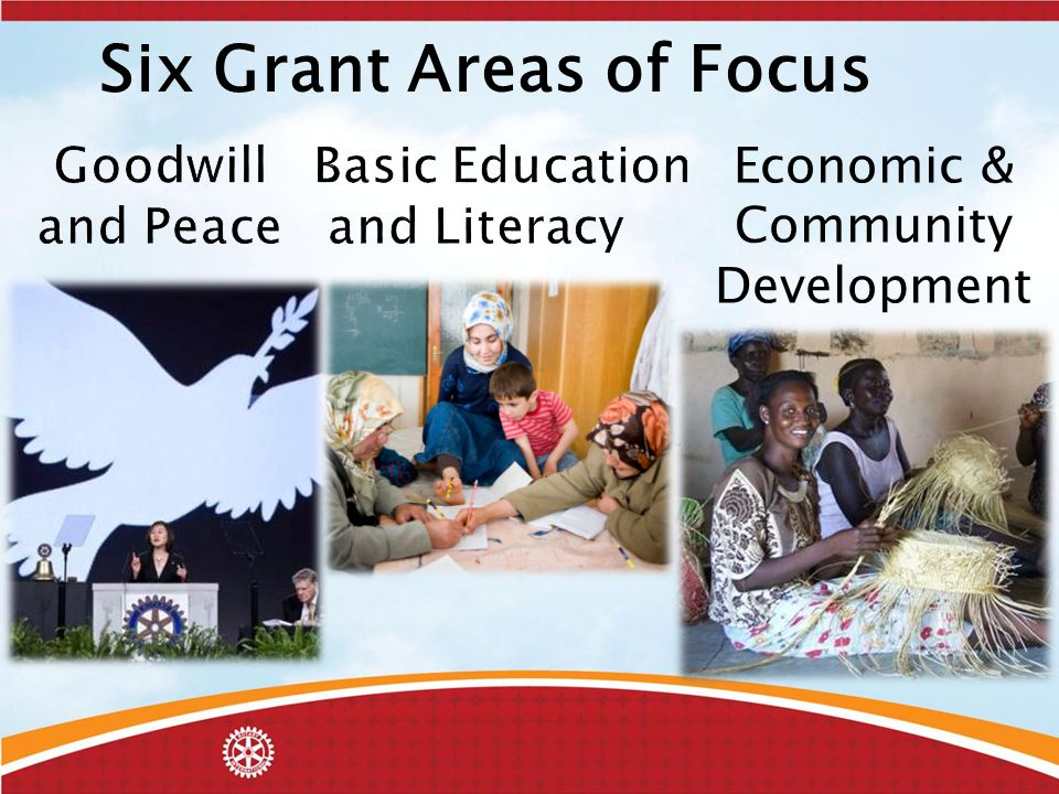 Economic & Community Development Six Grant Areas of Focus