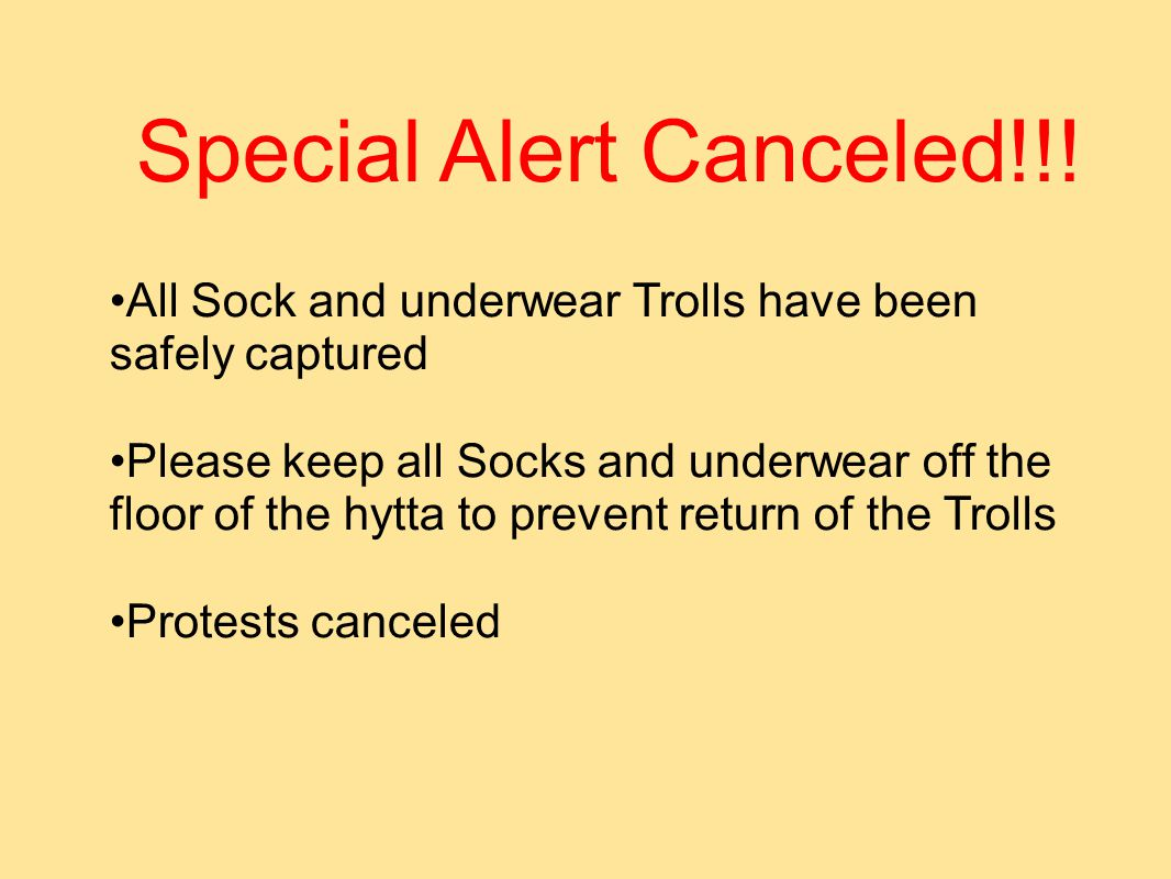Special Alert Canceled!!.