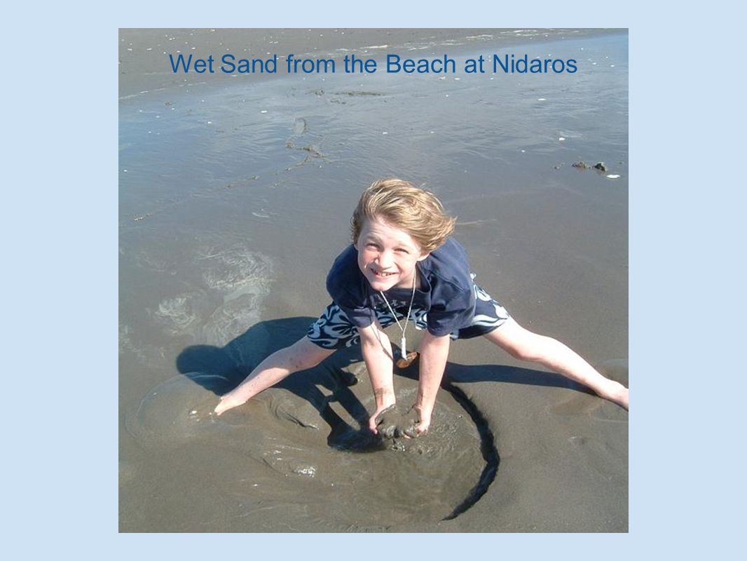 Wet Sand from the Beach at Nidaros