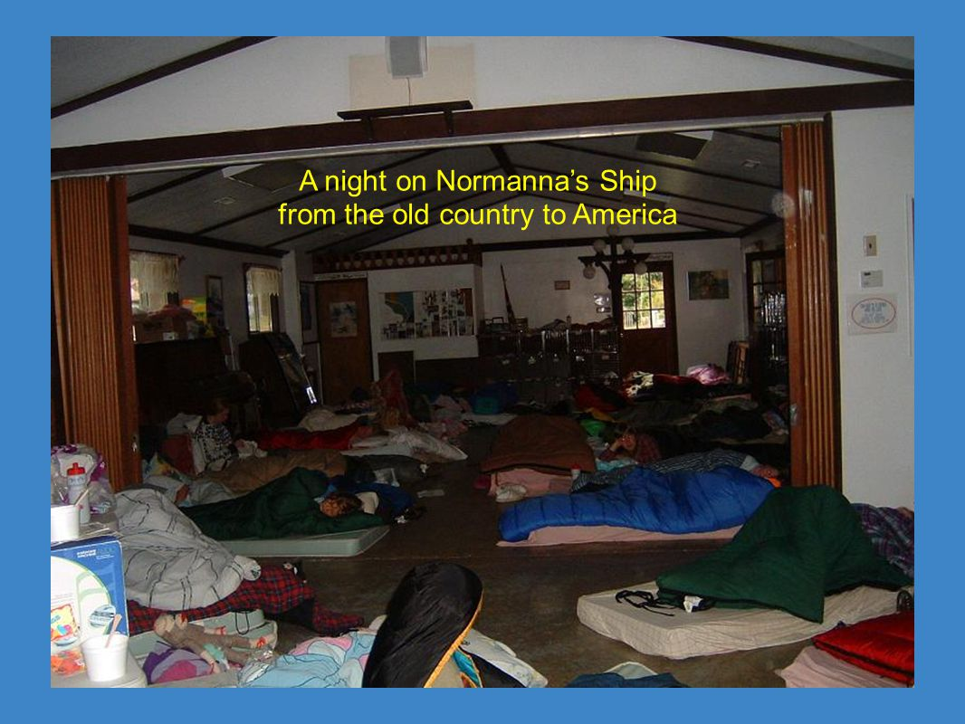 A night on Normanna's Ship from the old country to America