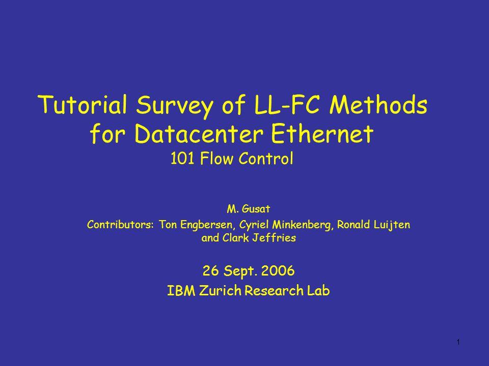 1 Tutorial Survey of LL-FC Methods for Datacenter Ethernet 101 Flow Control M.