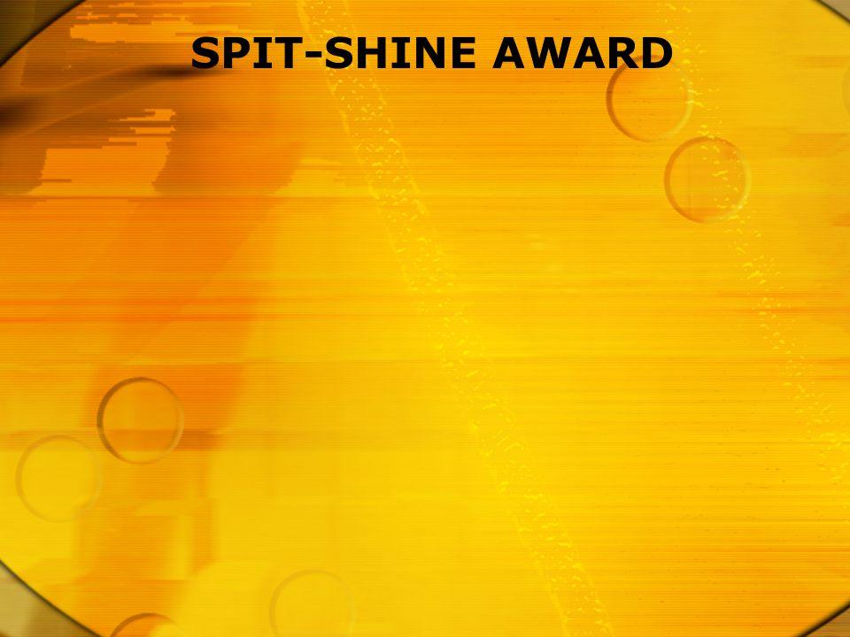 SPIT-SHINE AWARD