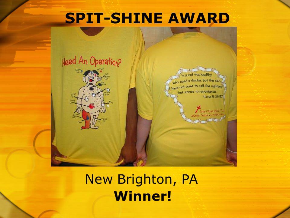 SPIT-SHINE AWARD Winner! New Brighton, PA