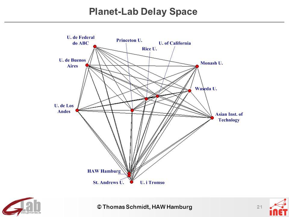 21 © Thomas Schmidt, HAW Hamburg Planet-Lab Delay Space