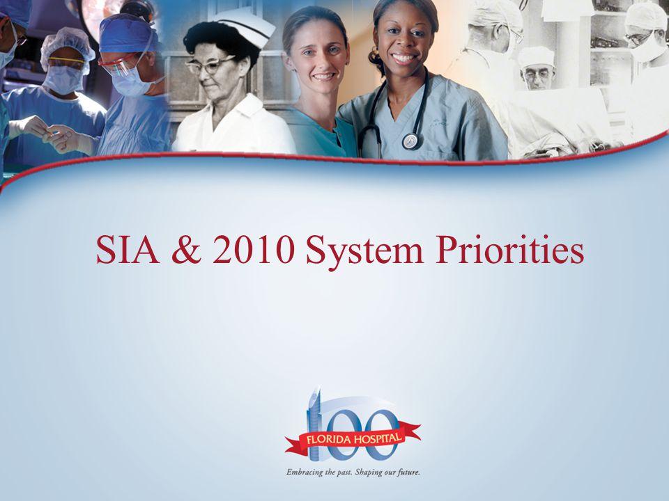 SIA & 2010 System Priorities