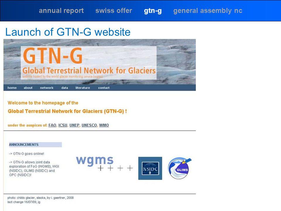 annual report swiss offer gtn-g general assembly nc Launch of GTN-G website