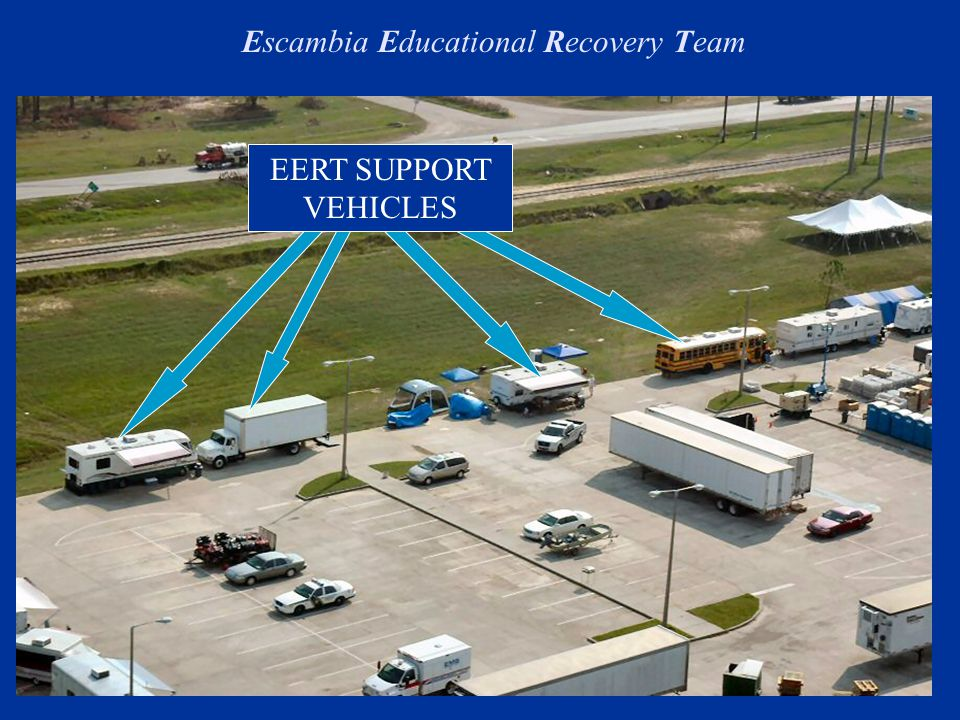 EERT SUPPORT VEHICLES Escambia Educational Recovery Team