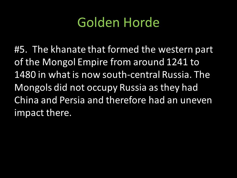 Golden Horde #5.