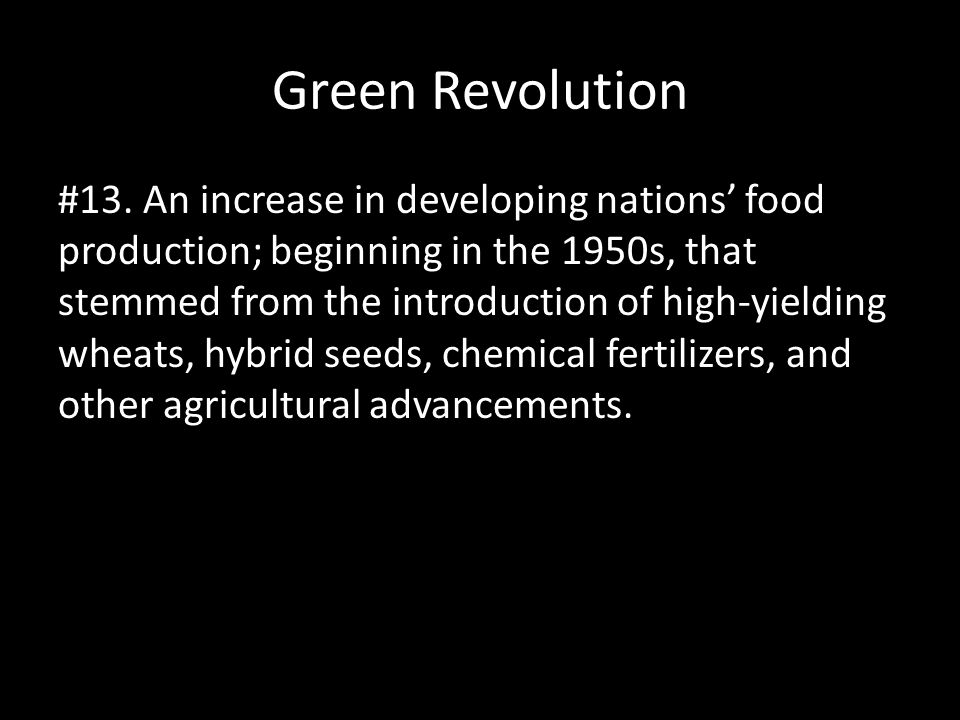 Green Revolution #13.