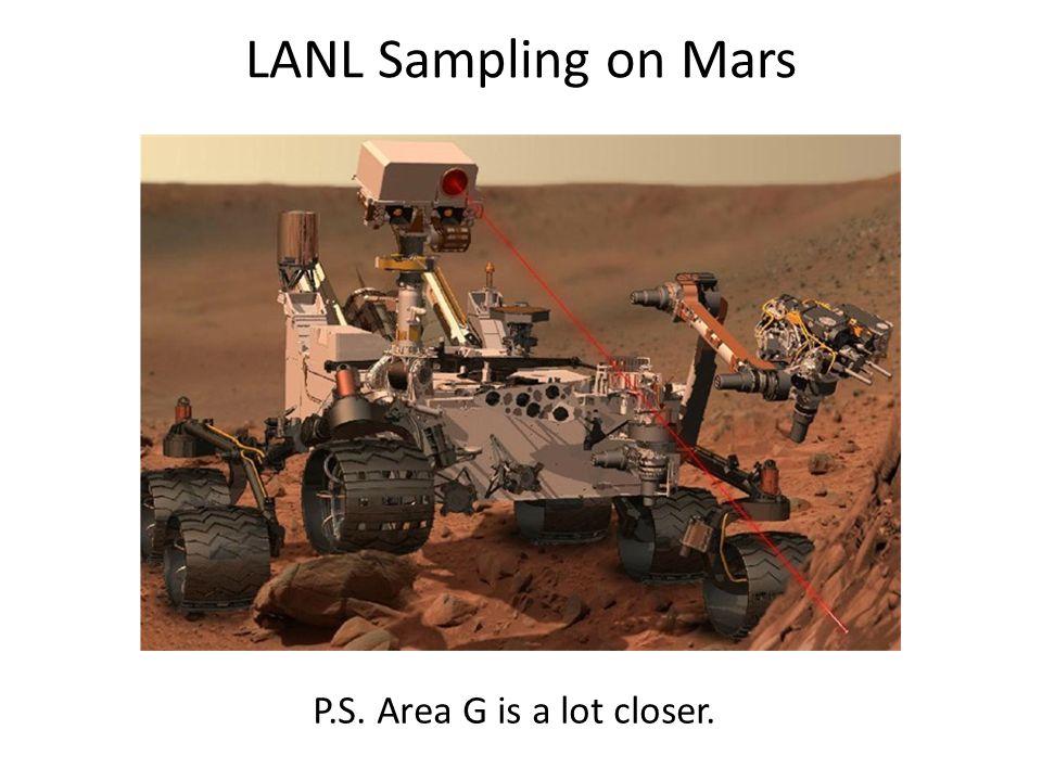 LANL Sampling on Mars P.S. Area G is a lot closer.