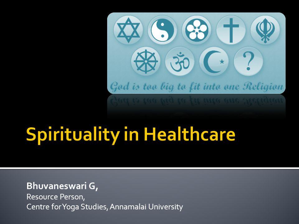 Bhuvaneswari G, Resource Person, Centre for Yoga Studies, Annamalai University