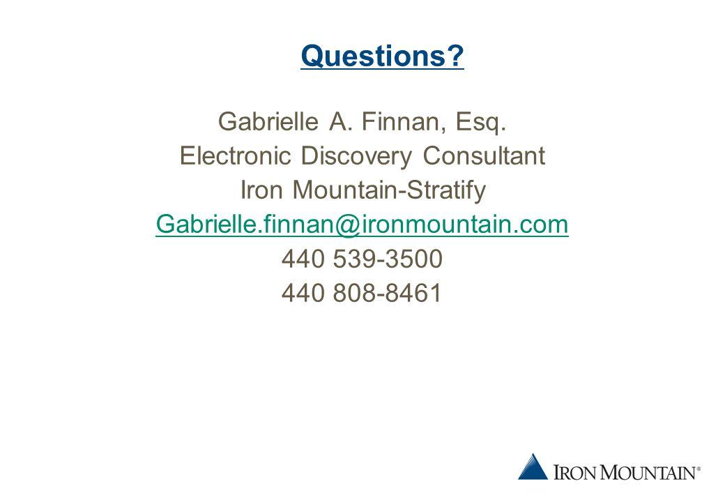 18 Questions. Gabrielle A. Finnan, Esq.