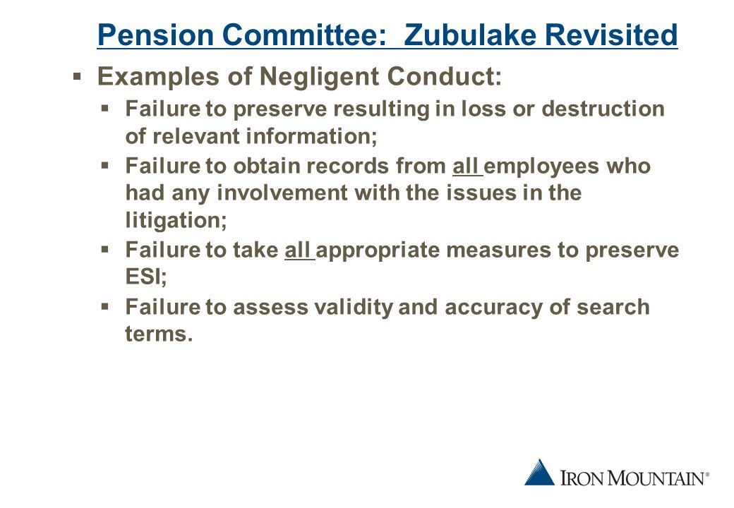16 Next Steps  What effect do these cases have on retention rules for electronic data.