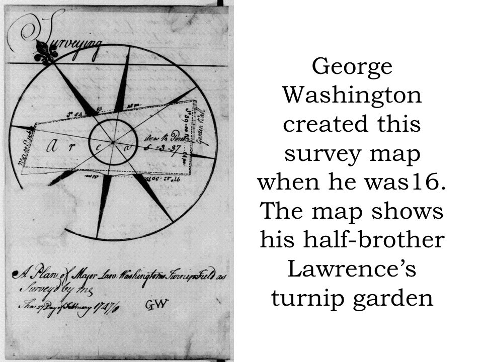George Washington created this survey map when he was16.