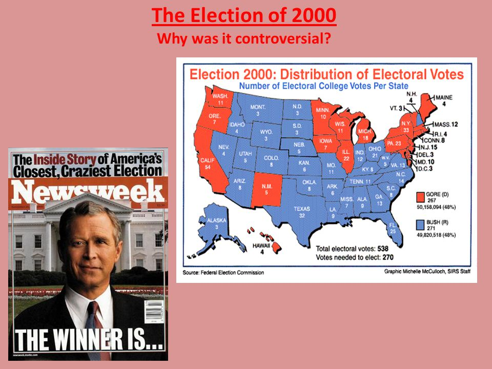 The 2000 Election Additional controversy… – The Palm Beach Butterfly ballot … – Hanging chads…
