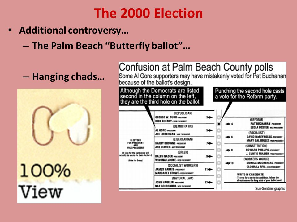The 2000 Election - Highly controversial Both parties legally challenge results Undecided for 30 days The U.S.