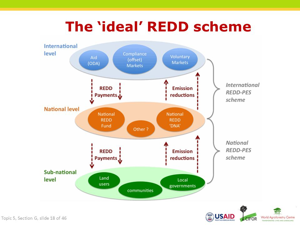 The 'ideal' REDD scheme Topic 5, Section G, slide 18 of 46