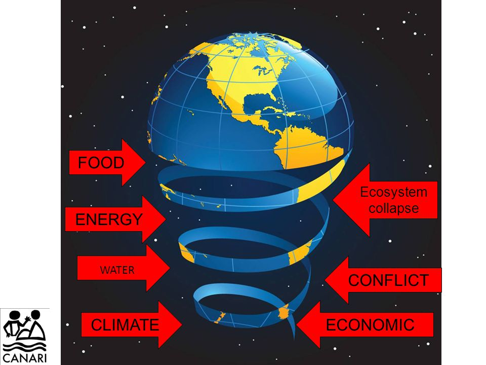 FOOD ECONOMICCLIMATE CONFLICT WATER ENERGY Ecosystem collapse