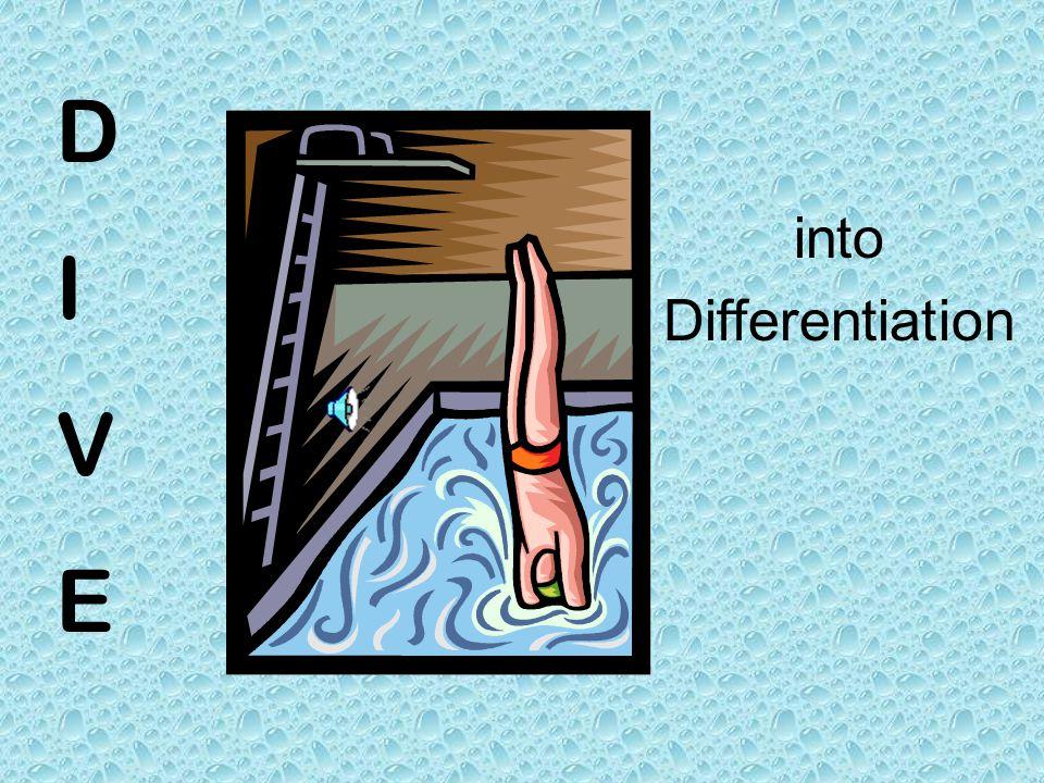 DIVEDIVE into Differentiation