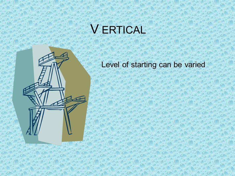 V ERTICAL Level of starting can be varied