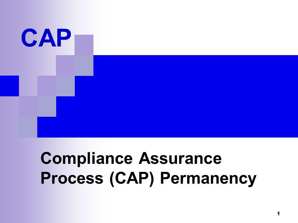 1 CAP Compliance Assurance Process (CAP) Permanency