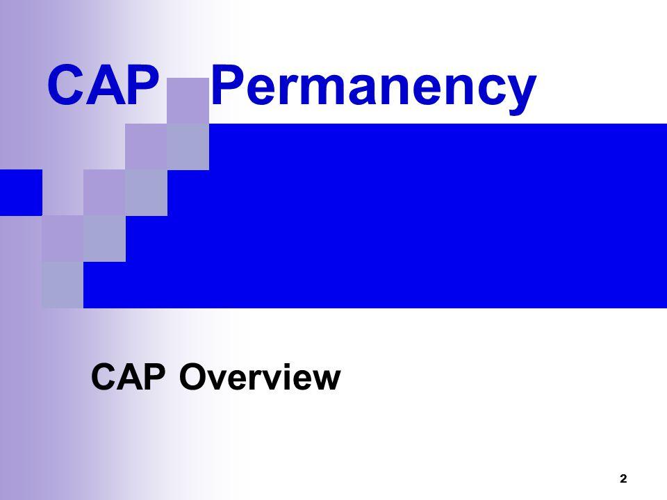 2 CAP Permanency CAP Overview