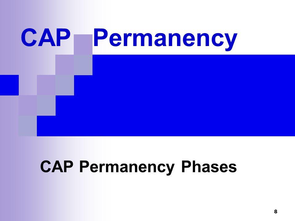8 CAP Permanency CAP Permanency Phases