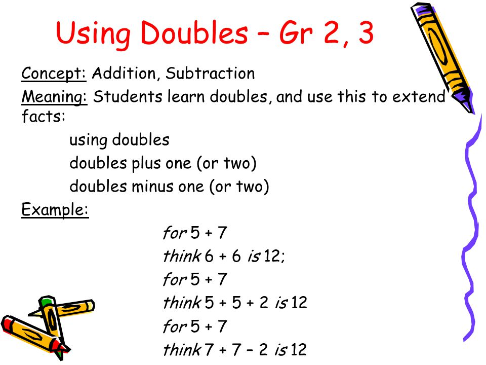 The Zero Property of Addition – Gr 2 Concept: Addition, Subtraction Meaning: Knowing that adding 0 to an addend does not change its value, and taking 0 from a minuend does not change the value.