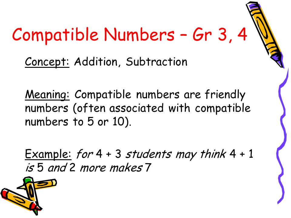 Commutative Property – Gr 3 Concept: Addition Meaning: Switching the order of the two numbers being added will not affect the sum.