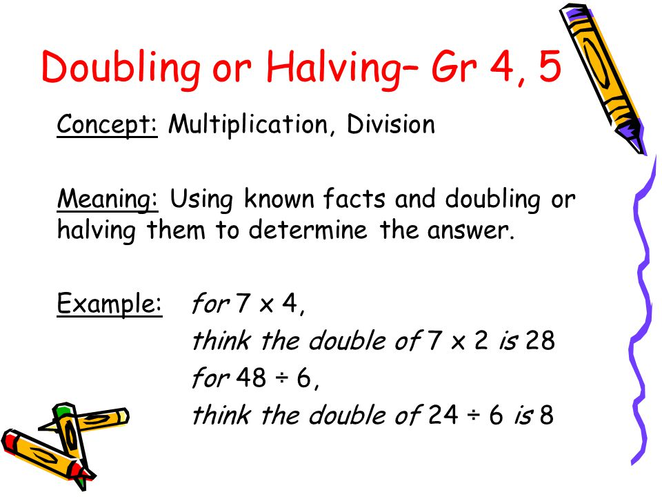 4 x 7 = 6 x 8= 8 x 7= 9 x 8= Practising the Strategy